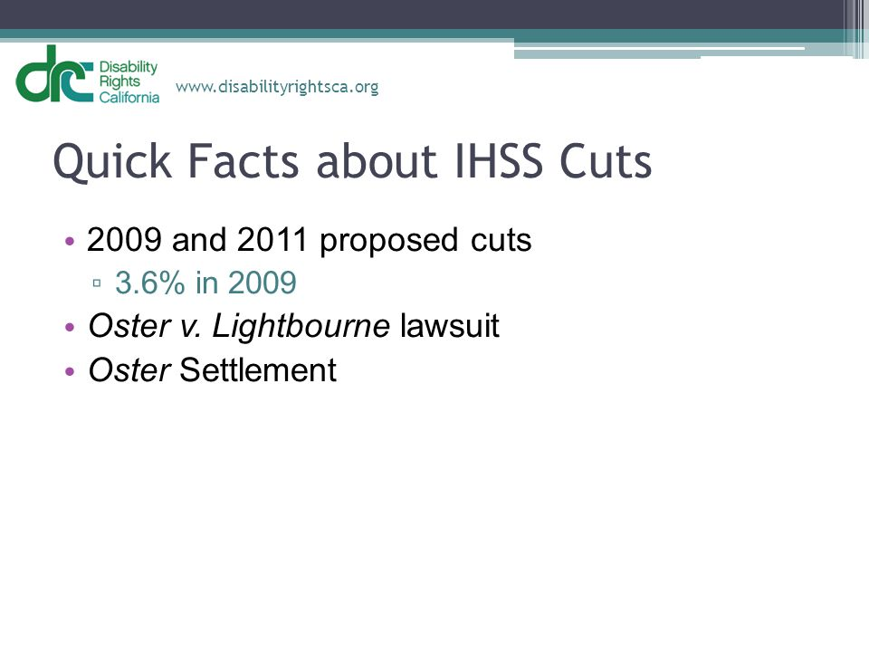 Quick Facts about IHSS Cuts