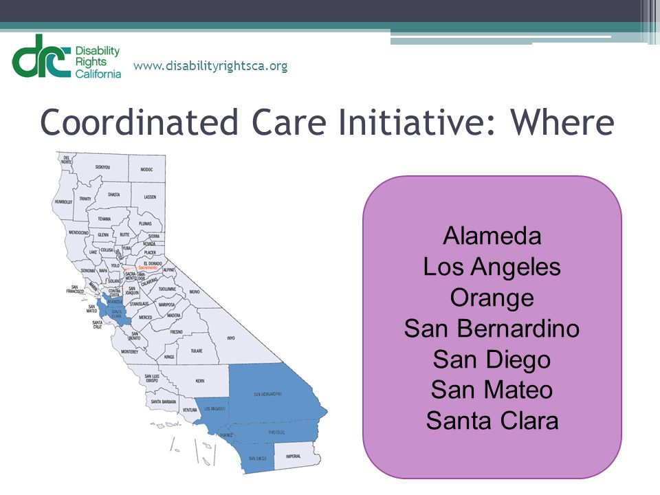 Coordinated Care Initiative: Where