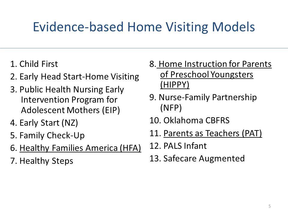 Evidence-based Home Visiting Models