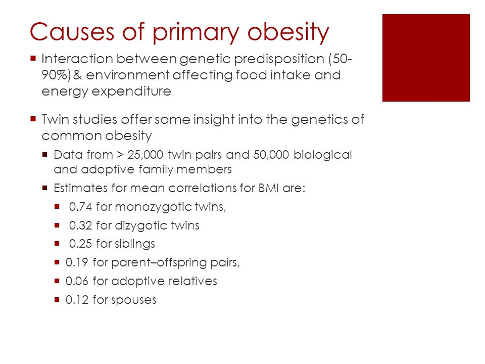 Causes of primary obesity
