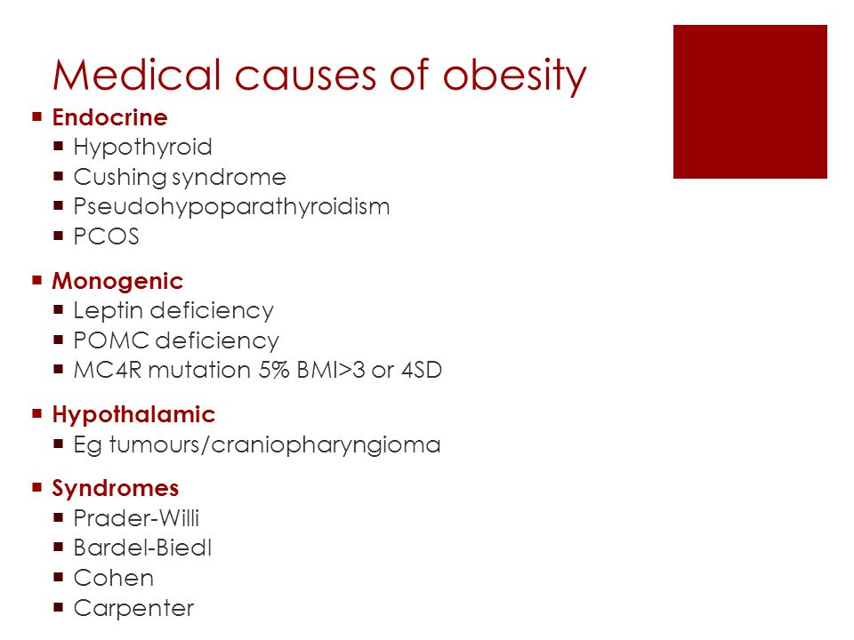 Medical causes of obesity