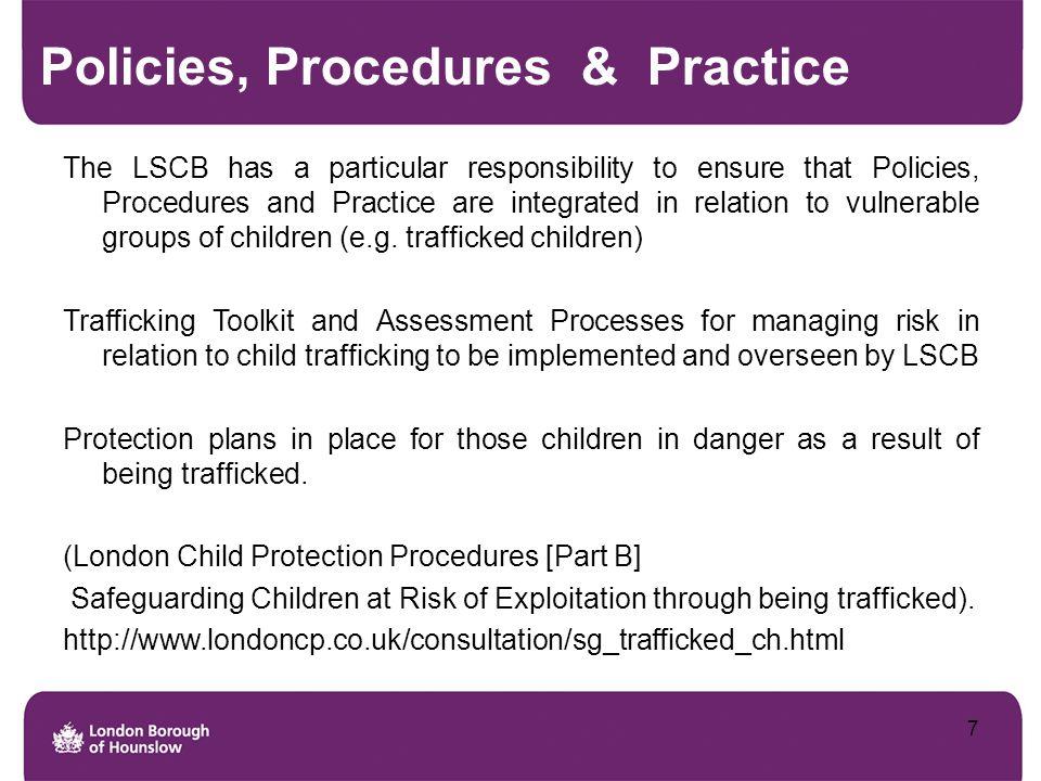 Policies, Procedures & Practice