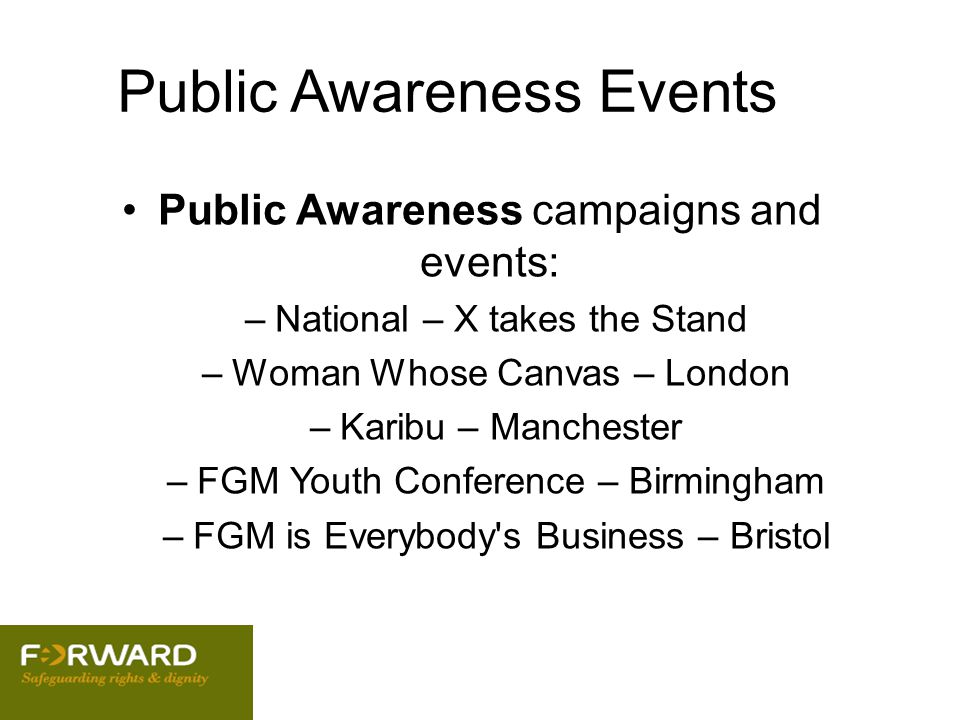 Public Awareness Events