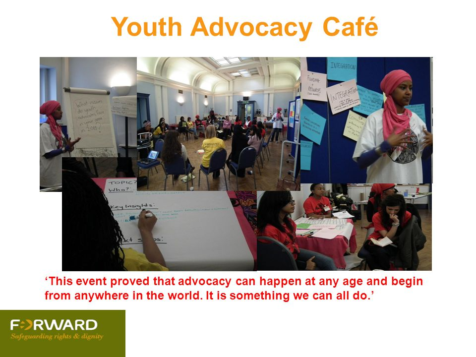 Youth Advocacy Café 'This event proved that advocacy can happen at any age and begin from anywhere in the world.