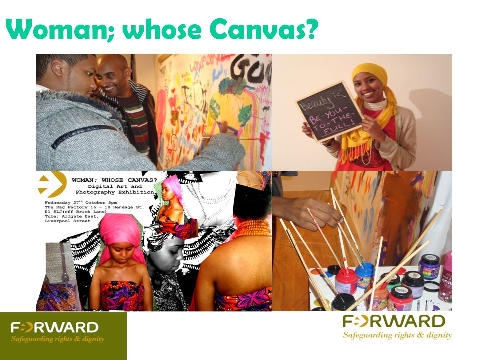 Woman; whose Canvas