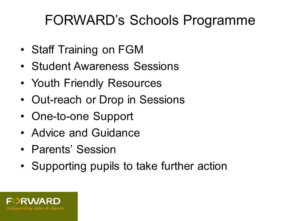 FORWARD's Schools Programme