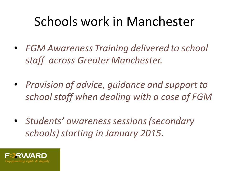 Schools work in Manchester
