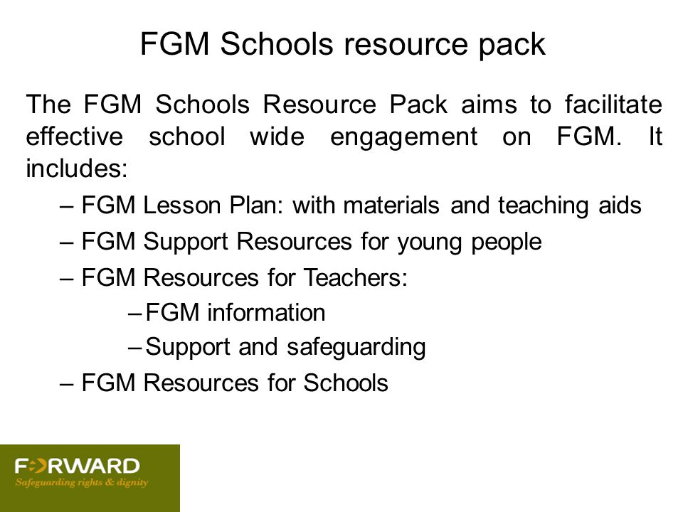 FGM Schools resource pack