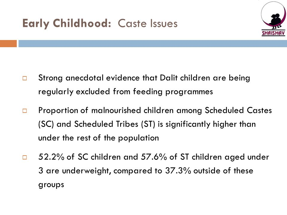 Early Childhood: Caste Issues