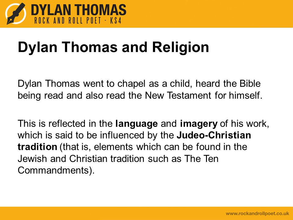 Dylan Thomas and Religion