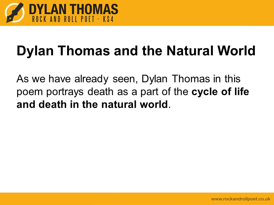 Dylan Thomas and the Natural World