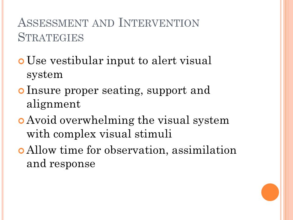 Assessment and Intervention Strategies