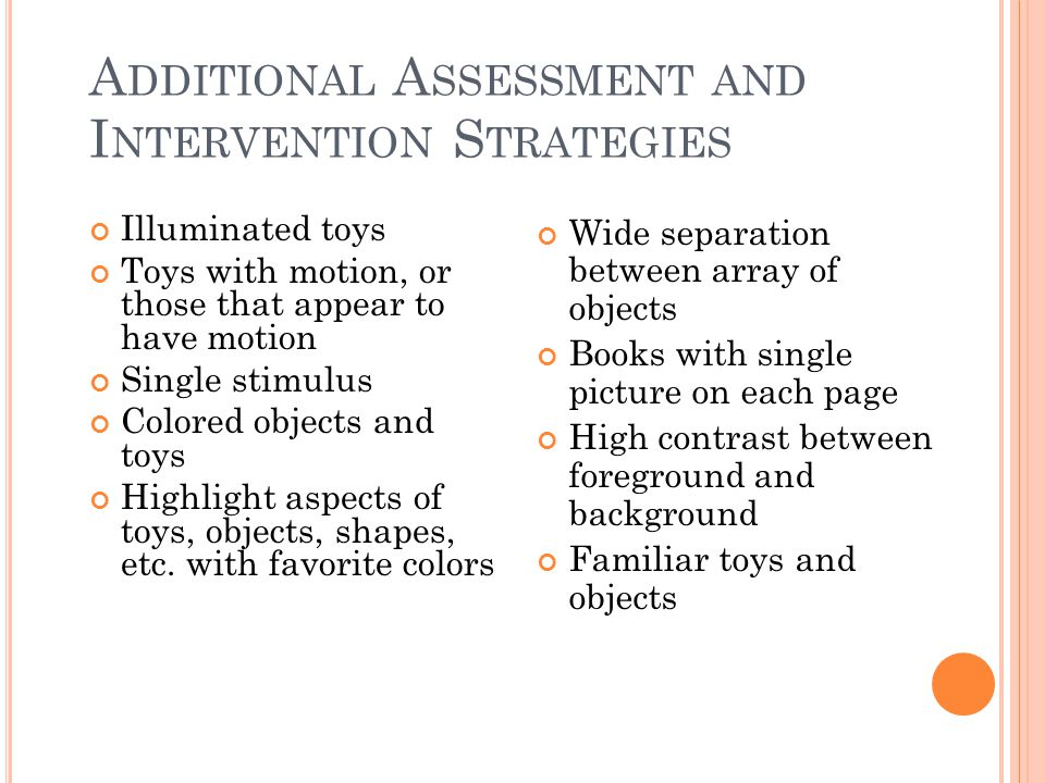 Additional Assessment and Intervention Strategies
