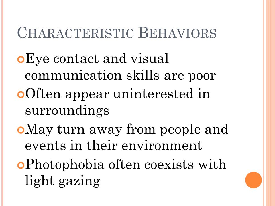 Characteristic Behaviors