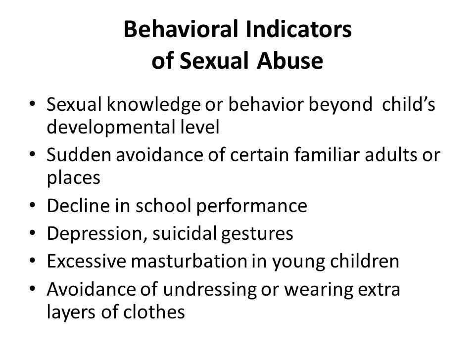 Behavioral Indicators of Sexual Abuse