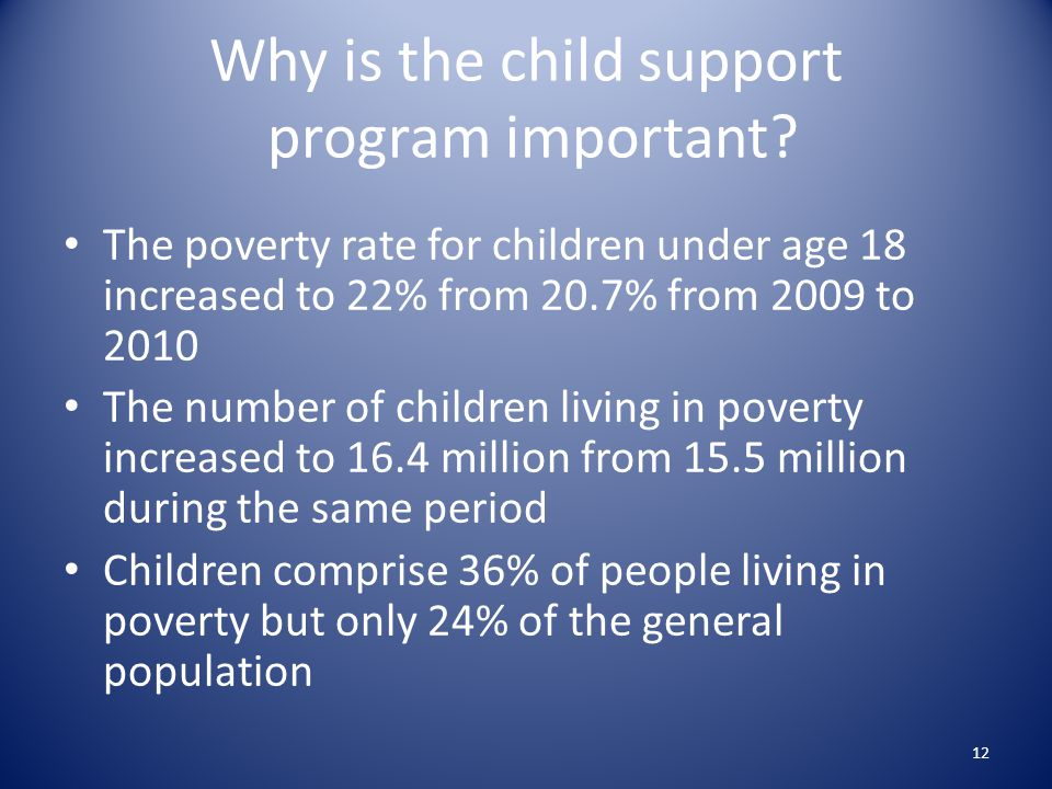 Why is the child support program important