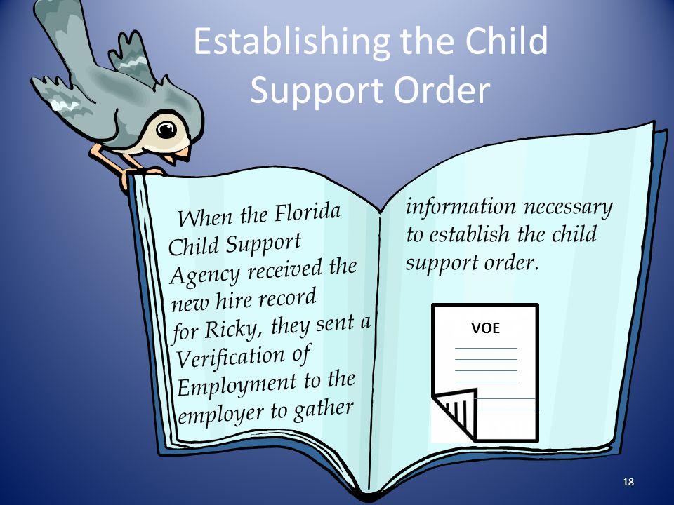 Establishing the Child Support Order