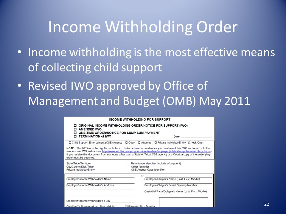 Income Withholding Order