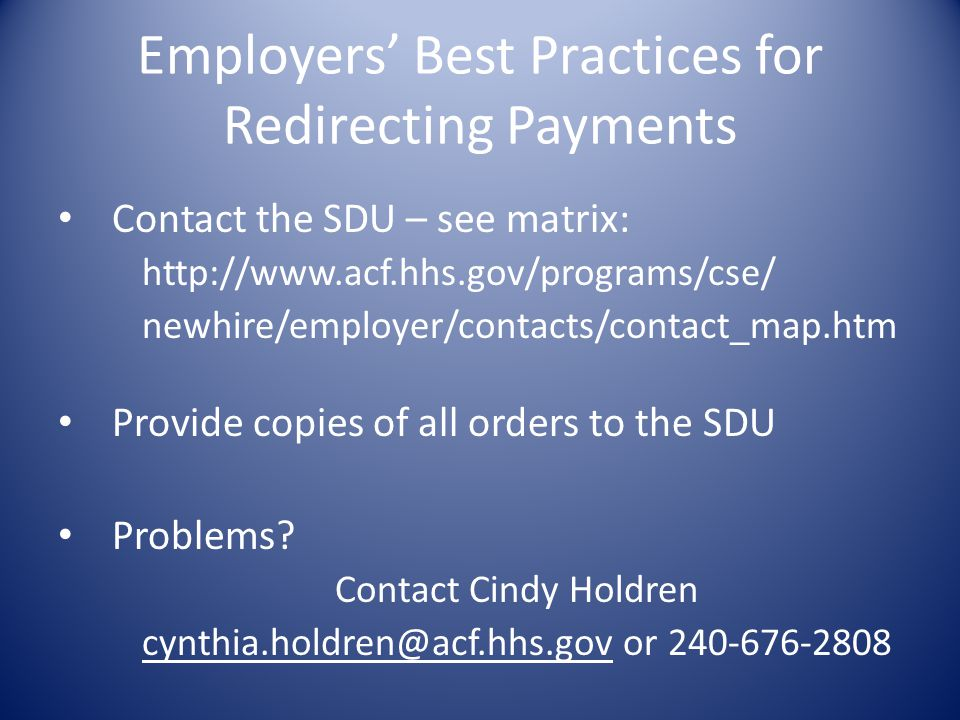 Employers' Best Practices for Redirecting Payments