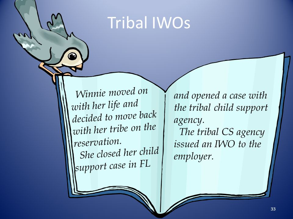 Tribal IWOs Winnie moved on with her life and decided to move back with her tribe on the reservation.