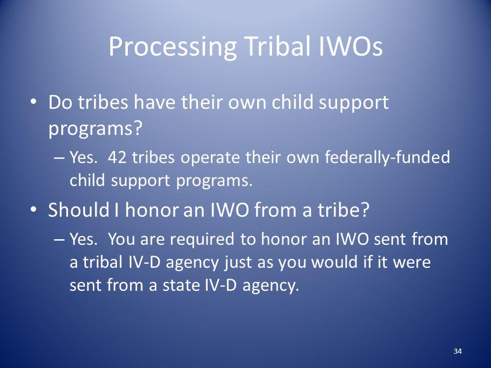 Processing Tribal IWOs