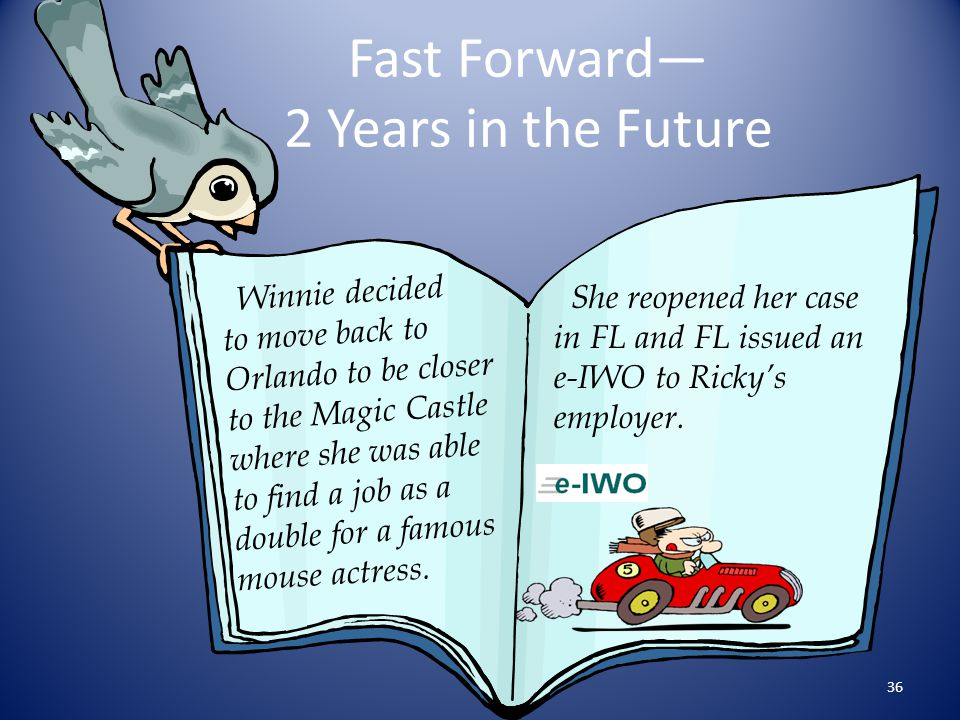 Fast Forward— 2 Years in the Future
