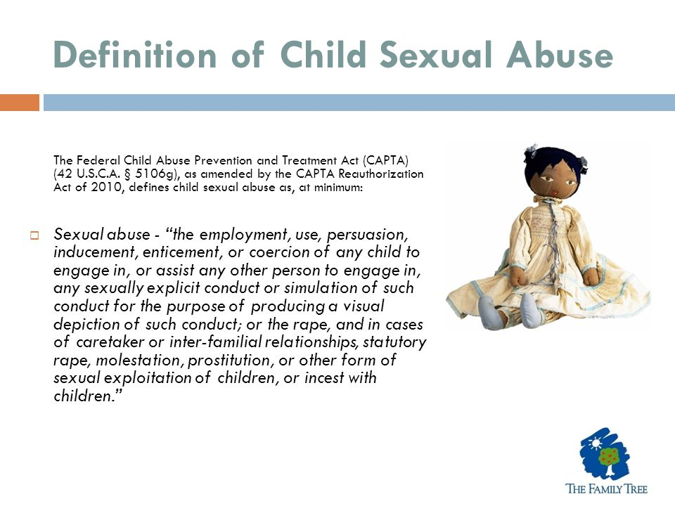 Definition of Child Sexual Abuse