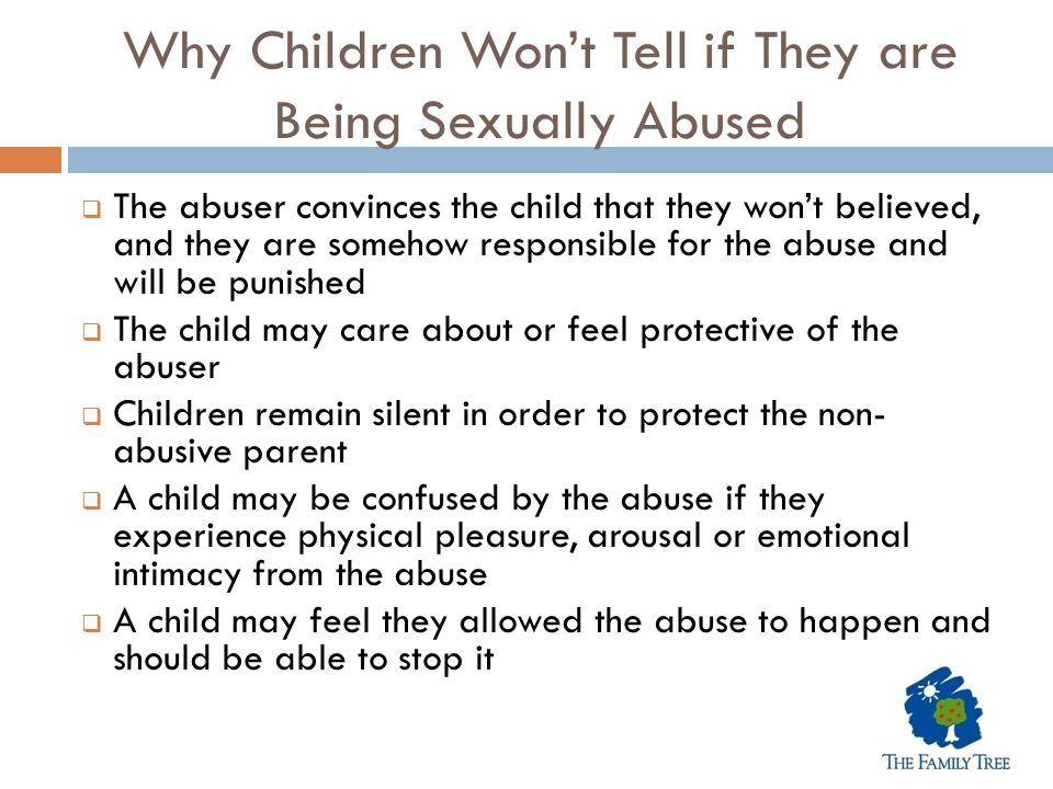 Why Children Won't Tell if They are Being Sexually Abused