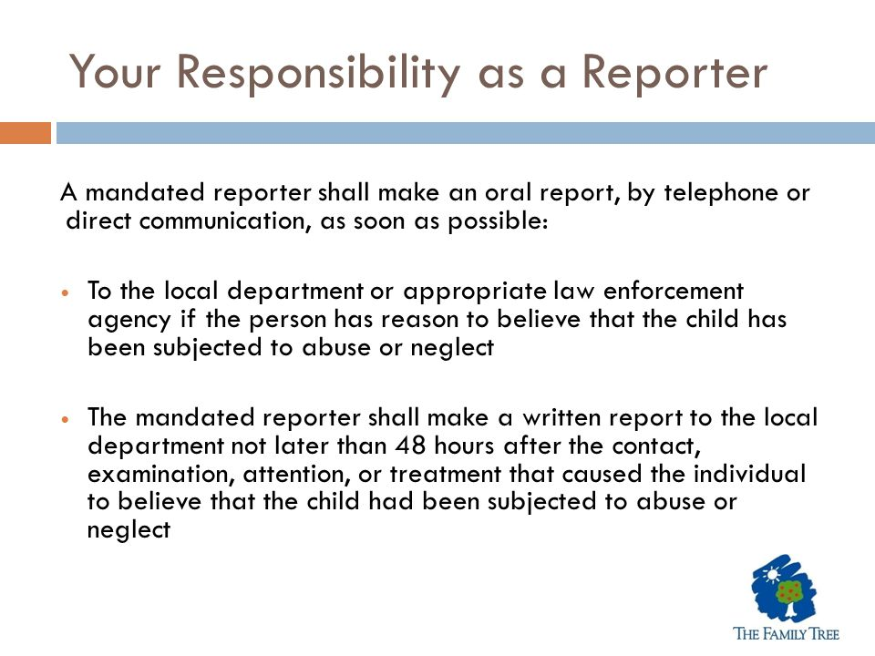 Your Responsibility as a Reporter