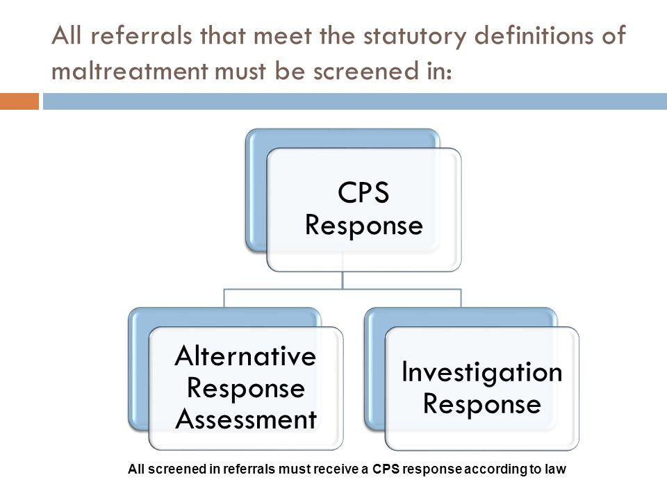 Alternative Response Assessment Investigation Response