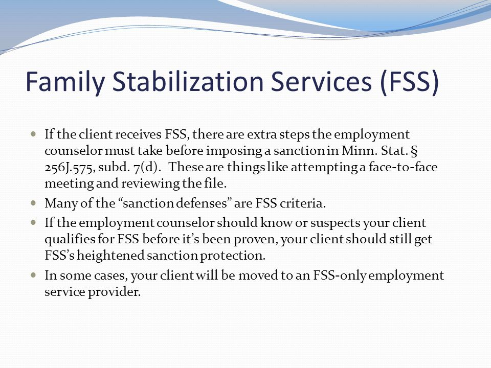 Family Stabilization Services (FSS)