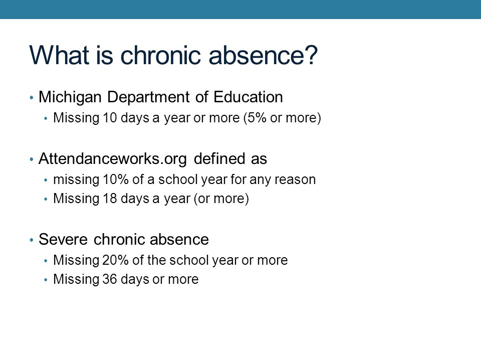 What is chronic absence