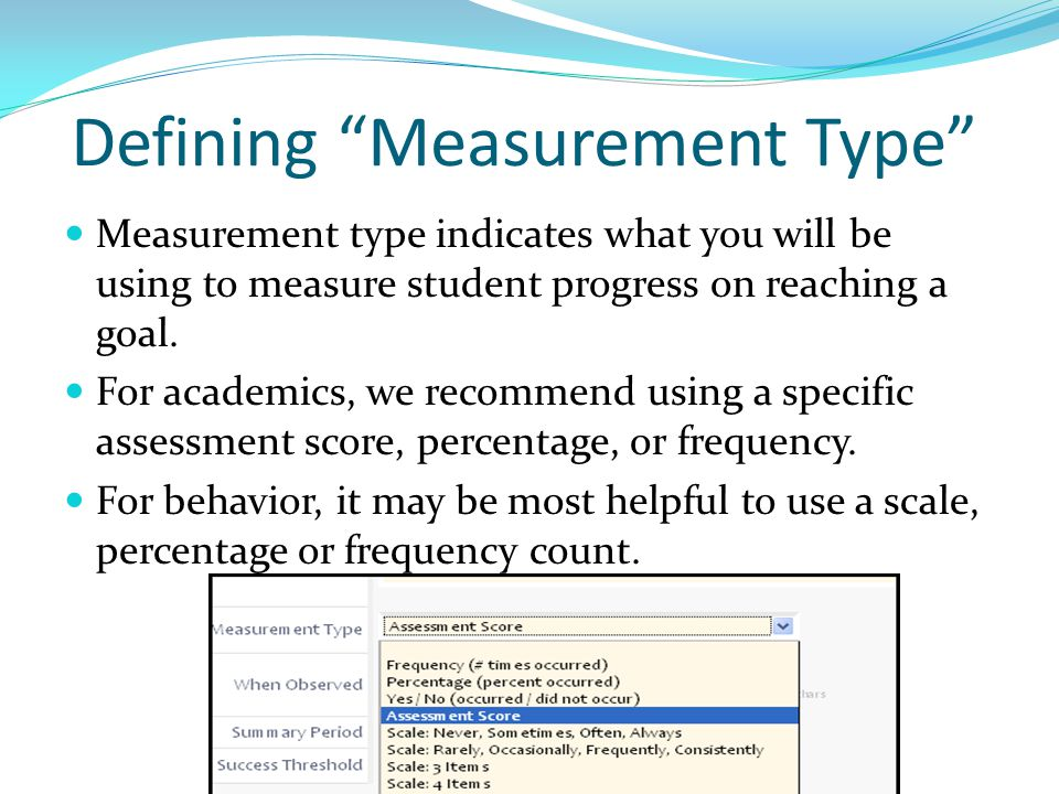 Defining Measurement Type