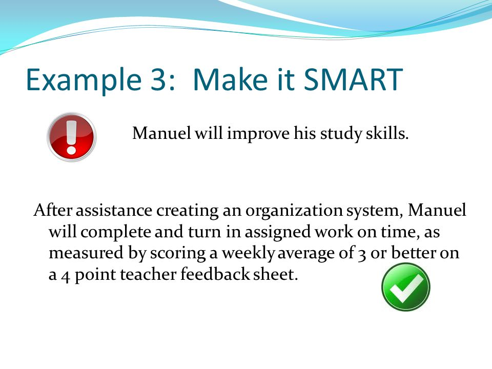 Example 3: Make it SMART