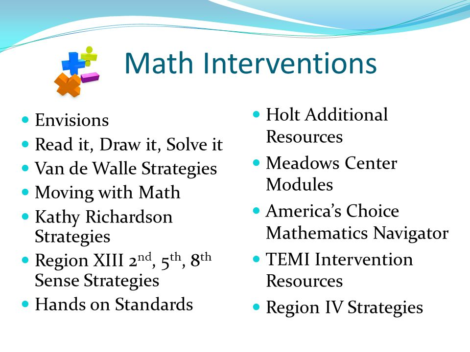 Math Interventions Holt Additional Resources Envisions