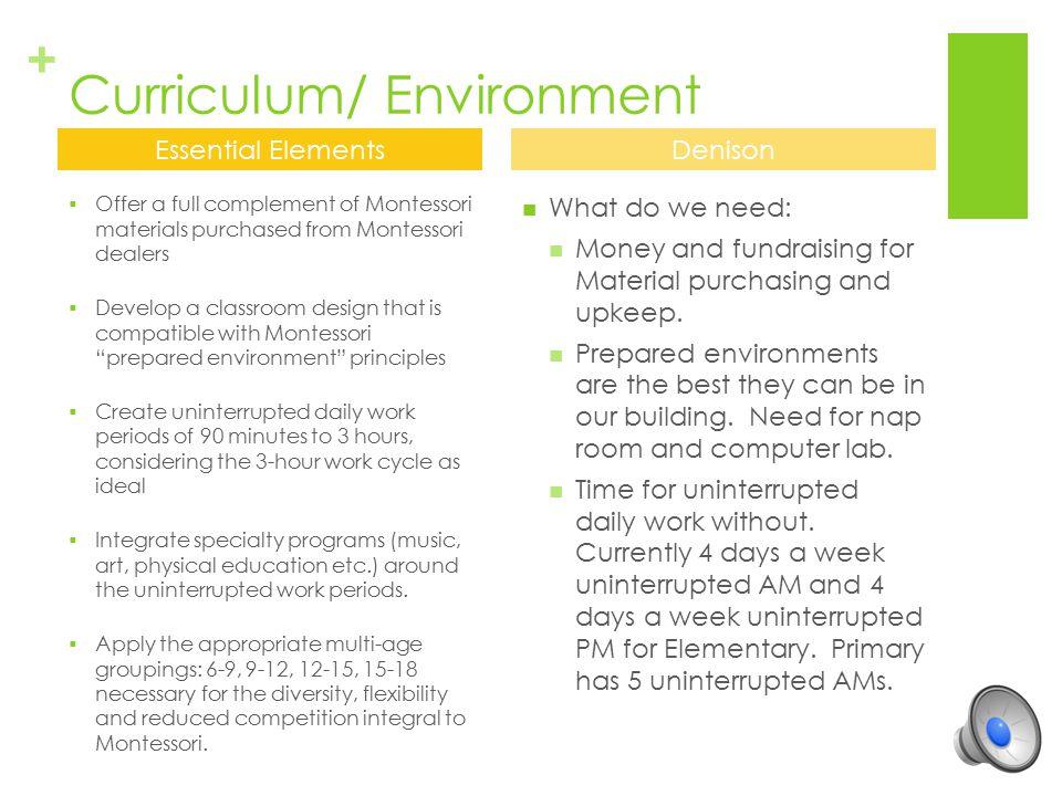 Curriculum/ Environment