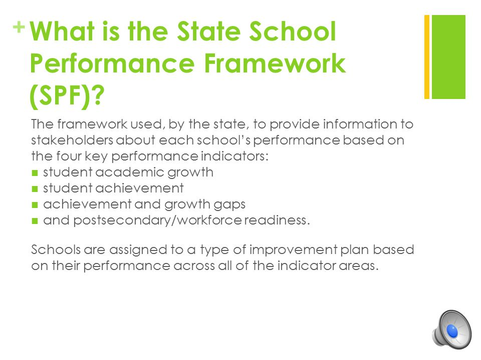 What is the State School Performance Framework (SPF)