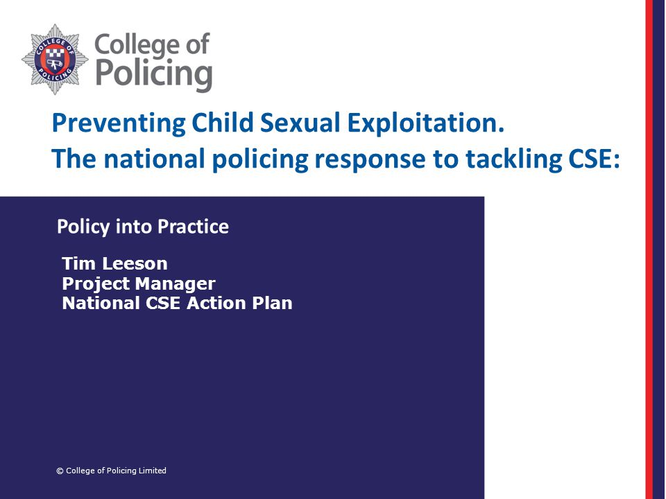 Preventing Child Sexual Exploitation