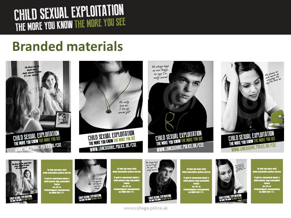 Branded materials www.college.police.uk