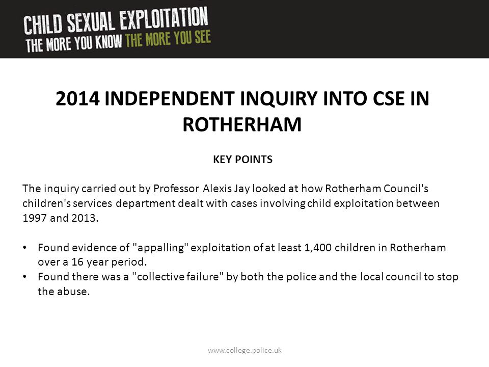 2014 INDEPENDENT INQUIRY INTO CSE IN ROTHERHAM