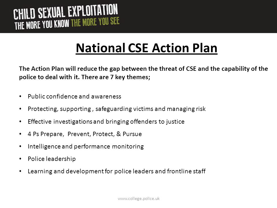 National CSE Action Plan