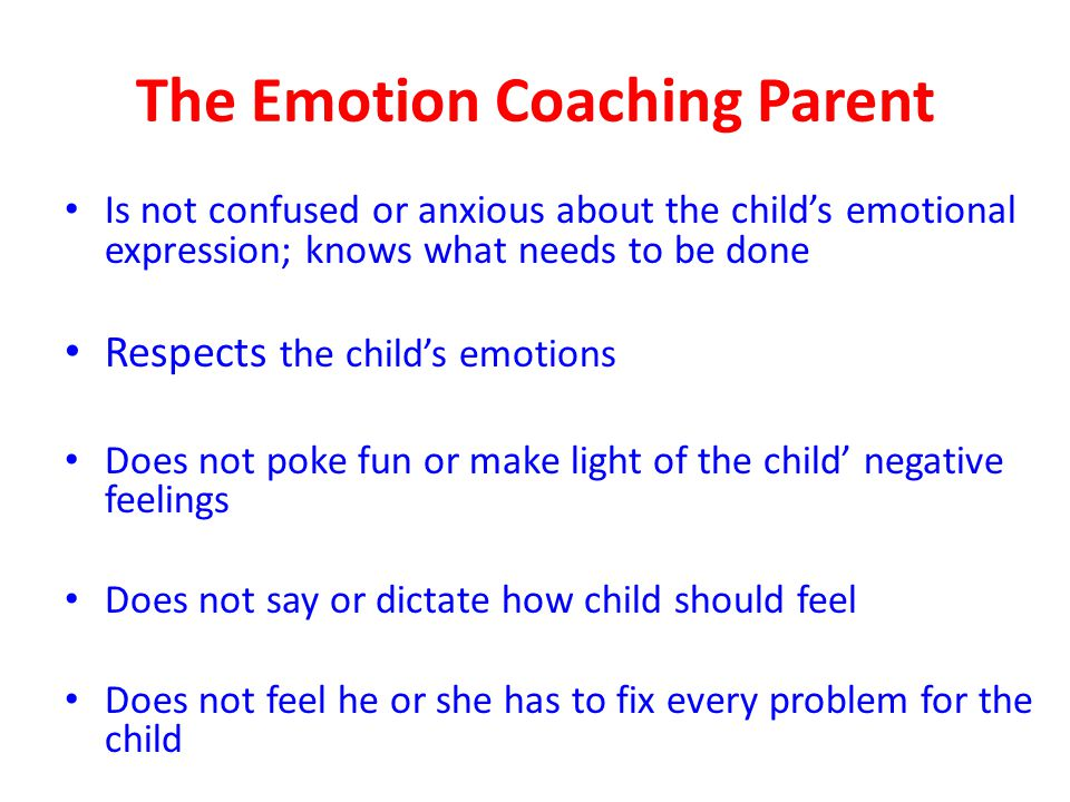 The Emotion Coaching Parent