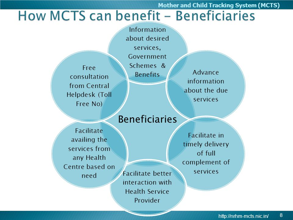 How MCTS can benefit - Beneficiaries