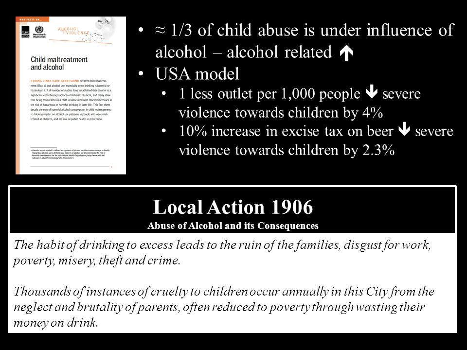 Abuse of Alcohol and its Consequences