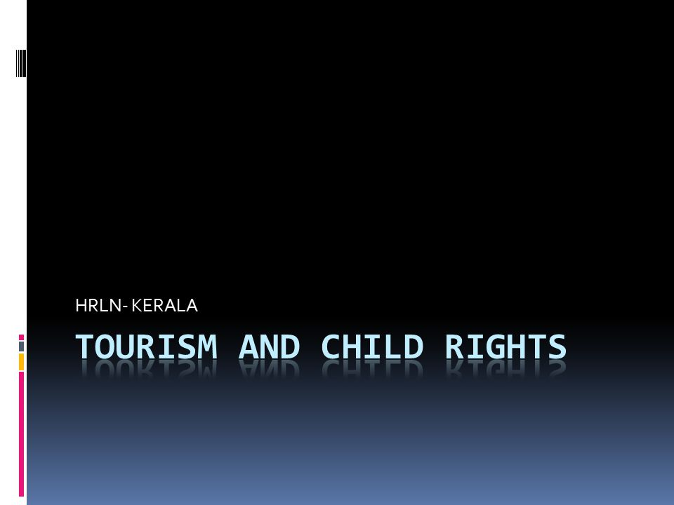Tourism and CHILD rights