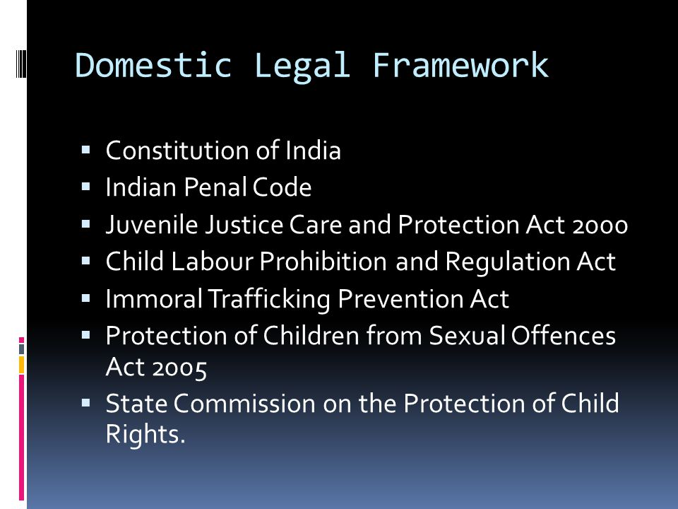 Domestic Legal Framework