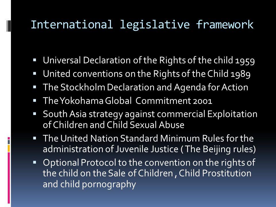 International legislative framework