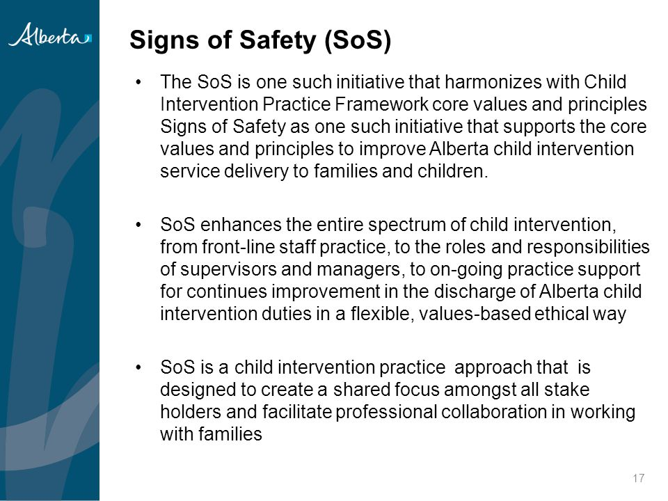 Signs of Safety (SoS)