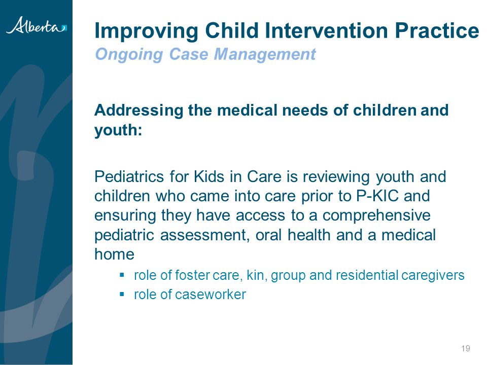 Improving Child Intervention Practice Ongoing Case Management
