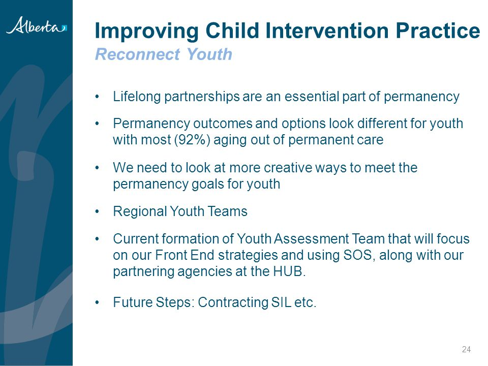 Improving Child Intervention Practice Reconnect Youth